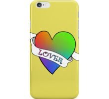 Lover's Heart (Gold) iPhone Case/Skin