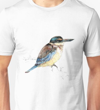Mr Kotare , New Zealand native king fisher bird Unisex T-Shirt