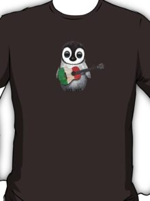 Baby Penguin Playing Italian Flag Guitar T-Shirt