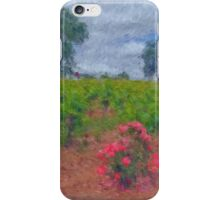 Vineyard Roses in a Van Gogh Landscape iPhone Case/Skin