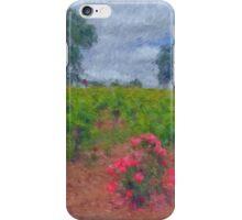 Vineyard Roses in a Van Gogh Landscape iPhone Case/Skin