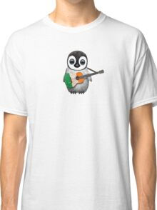 Baby Penguin Playing Irish Flag Guitar Classic T-Shirt