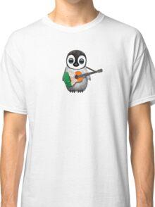 Baby Penguin Playing Irish Flag Guitar Classic T-Shirt
