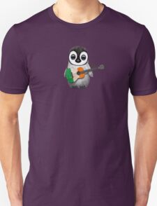 Baby Penguin Playing Irish Flag Guitar Unisex T-Shirt