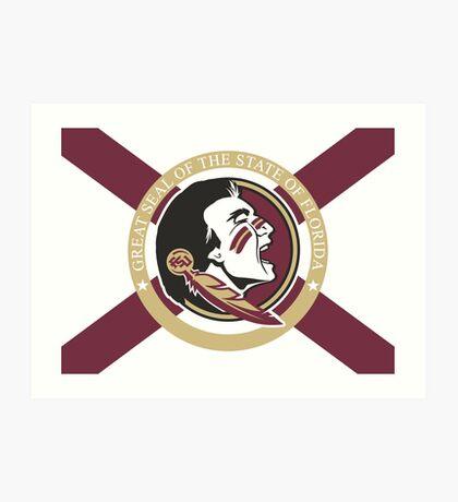 Florida (State) University Flag Art Print