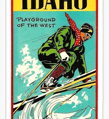 Idaho Playground of the West Vintage Travel Decal Sticker