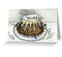 The Little Christmas Pudding Angel Greeting Card