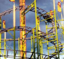 Roller Coaster Ride Sticker