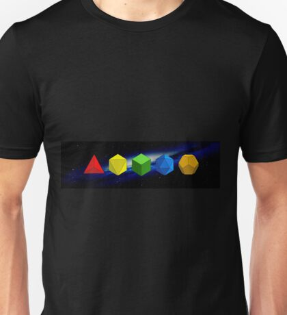 5 Platonic Solids Unisex T-Shirt