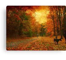 Walking in copper Canvas Print