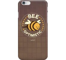 Bee Optimistic - Gray iPhone Case/Skin