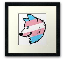 Trans Wolf Framed Print