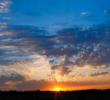 Midwestern Sunset Sky by Kenneth Keifer