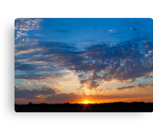 Midwestern Sunset Sky Canvas Print