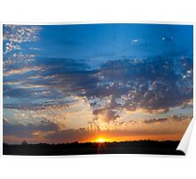 Midwestern Sunset Sky Poster