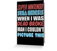 Dead Broke Greeting Card