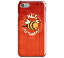Bee Optimistic - Red iPhone Case/Skin