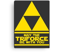May the Triforce be with you - Link Canvas Print