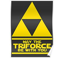 May the Triforce be with you - Link Poster