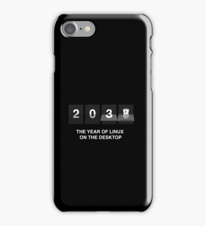 The year of linux on the desktop iPhone Case/Skin