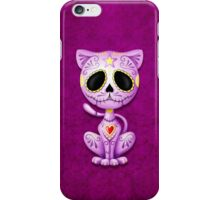 Purple Zombie Sugar Kitten Cat iPhone Case/Skin
