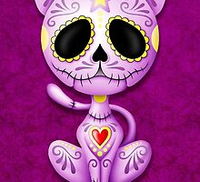 Purple Zombie Sugar Kitten Cat by Jeff Bartels