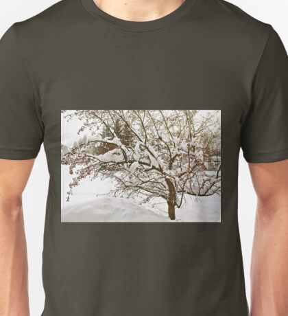 Snowy Branches Unisex T-Shirt