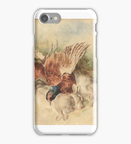 Heywood Hardy ()  Still life with two hares and a pheasant iPhone Case/Skin