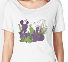 Arizona Cacti and Butterflies Women's Relaxed Fit T-Shirt