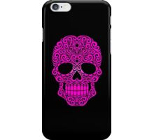 Pink Swirling Sugar Skull iPhone Case/Skin