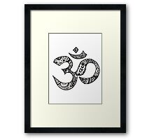 Om Sign Framed Print