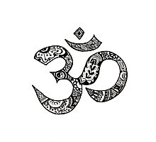 Om Sign Photographic Print