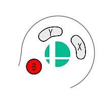 Smash Bros Gamecube Controller Photographic Print