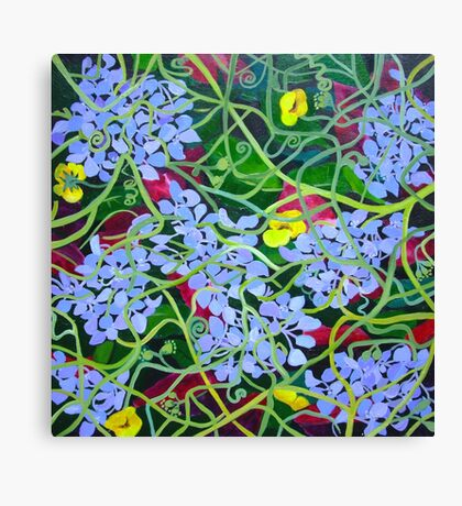 Hydrangea with Buttercups Canvas Print