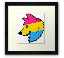 Pansexual Wolf Framed Print