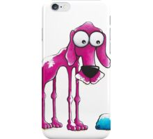 The Pink Dog and his ball iPhone Case/Skin