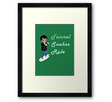 Tunnel Snakes Rule! Framed Print