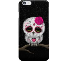 Cute Pink Day of the Dead Sugar Skull Owl iPhone Case/Skin