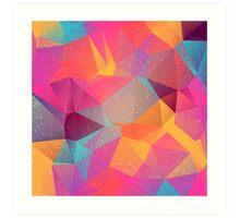 Pink poligonal background Art Print