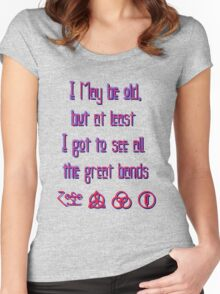 I may be old... ZEPPELIN! Women's Fitted Scoop T-Shirt
