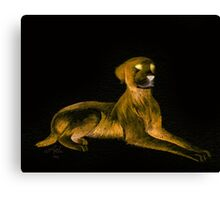Goosebumps Dog Halloween Painting Canvas Print