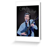 Phillip Phillips Portrait Greeting Card