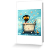 Bathtime Bubbles Greeting Card