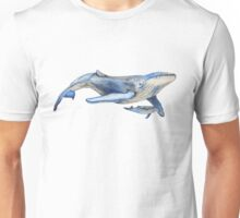 Watercolour Whale Unisex T-Shirt