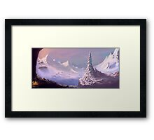 Snowy Voyage Framed Print