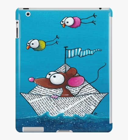 Mouse sails in his paper boat iPad Case/Skin