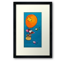 Mouse in his hot air balloon Framed Print