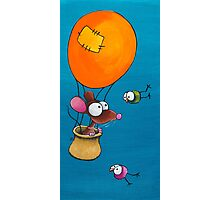 Mouse in his hot air balloon Photographic Print