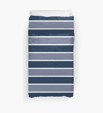 Berry Blues Stripe! Duvet Cover