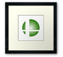 Smash Logo - Green Burst Framed Print